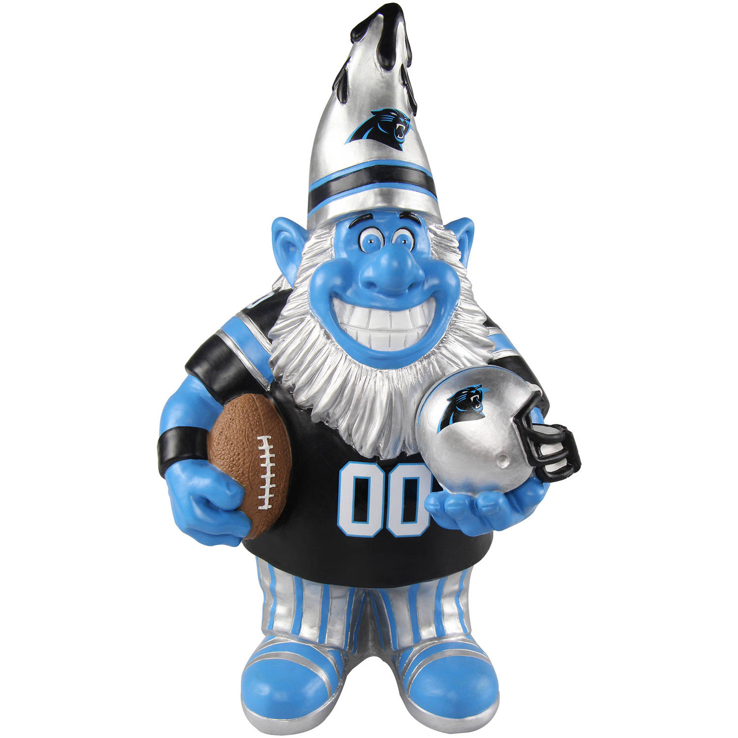 Forever Collectibles NFL Caricature Garden Gnome, Carolina Panthers