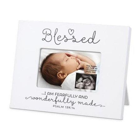 Lighthouse Christian Products 173147 Frame Mini Mdf Blessed Baby Sonogram