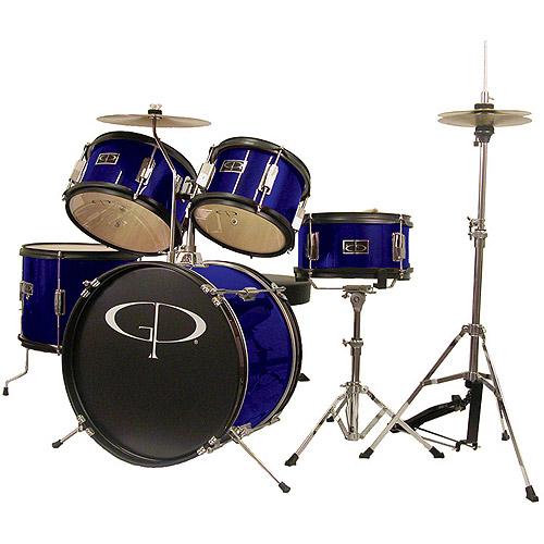 GP Percussion 5-Piece Junior Drum Set, Blue
