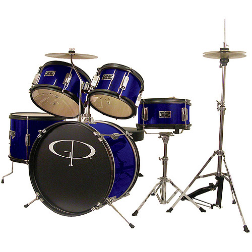 GP Percussion 5-Piece Junior Drum Set, Blue