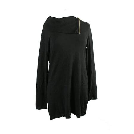 Inc Inc International Concepts Black Side Zip Cowl Neck