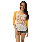 American Fighter Women's Lindenwood Camo 3/4 Raglan Graphic T-Shirt