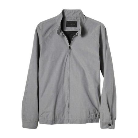 New  7181-1 Banana Republic Mens Grey Micro Houndtooth Zip Up Club Jacket Sz XL $130