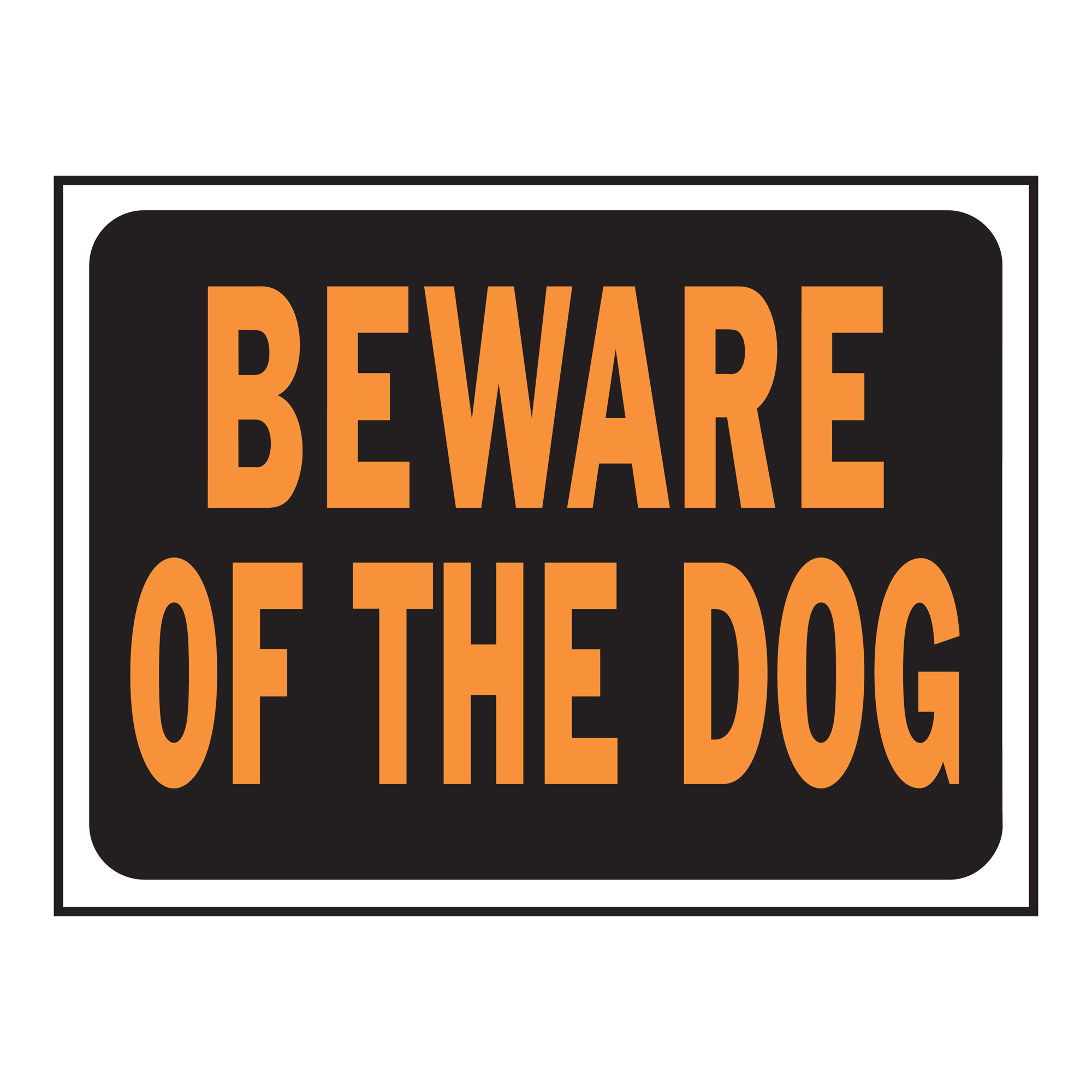 Beware of Dog Sign by Generic