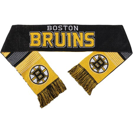 NHL Forever Collectibles Reversible Split Logo Scarf, Boston Bruins