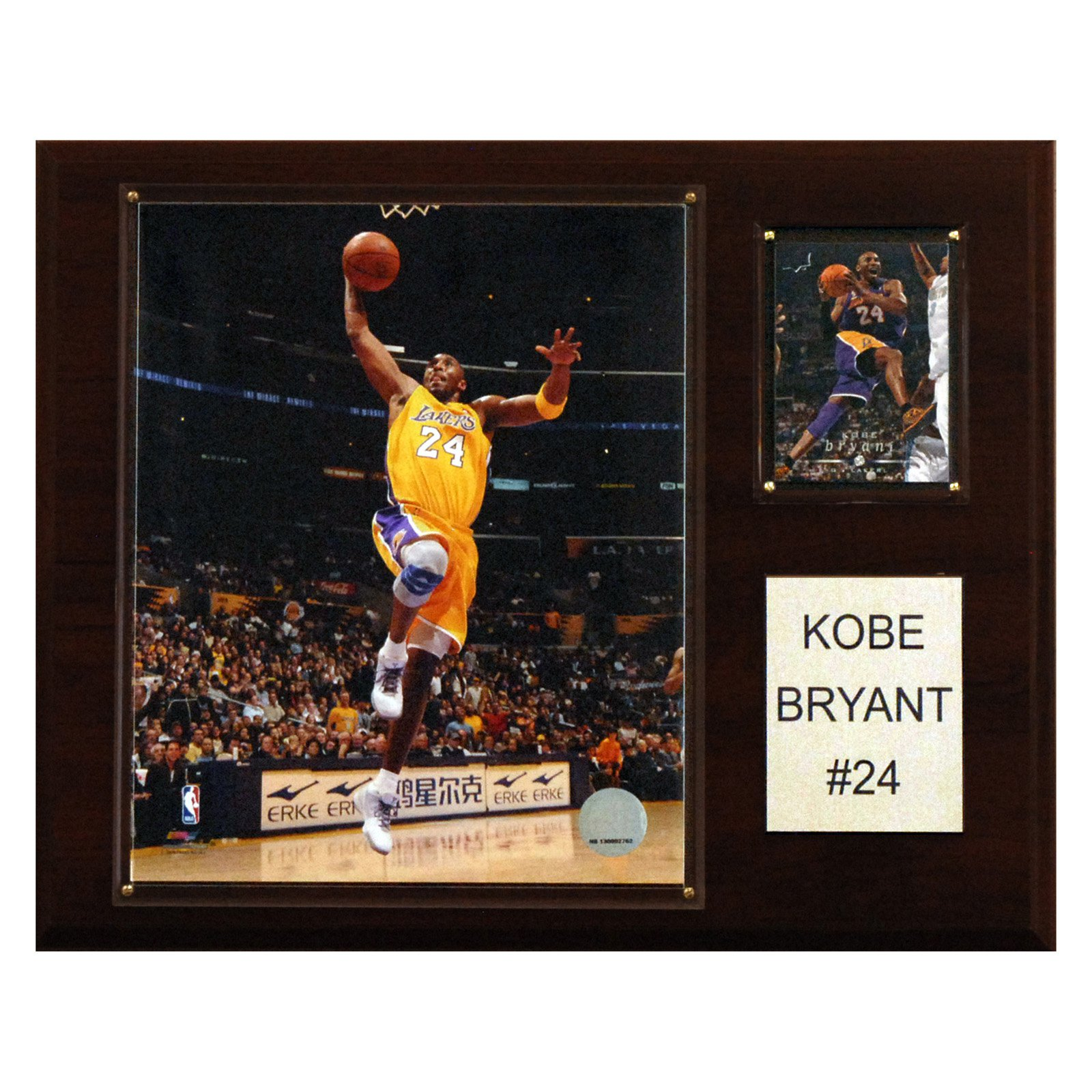 NBA 12 x 15 in. Kobe Bryant Los Angeles Lakers Player Plaque