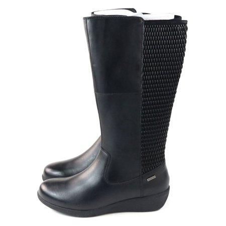 Aravon New Balance Womens Lillian Knee High Leather Boot Black Size 6 EU 36.5