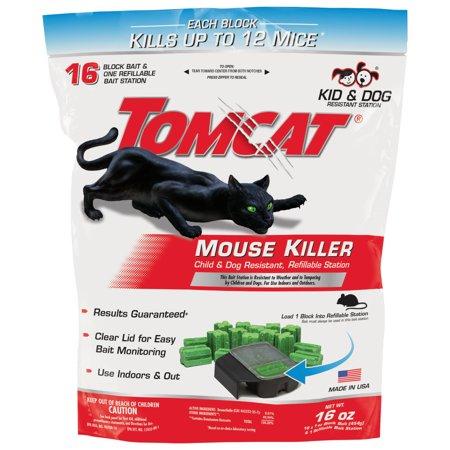 Tomcat Mouse Killer Child & Dog Resistant; Refillable Station