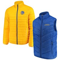 Golden State Warriors G-III Sports by Carl Banks Three & Out 3-in-1 System Full-Zip Vest & Jacket Set - Royal/Gold