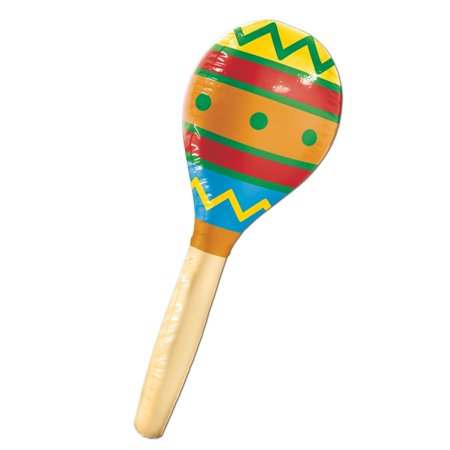Pack of 6 Colorful Fiesta Inflatable Maraca Party Decorations 30