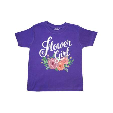 Flower Girl Hand Lettering with Flowers Illustration Toddler T-Shirt