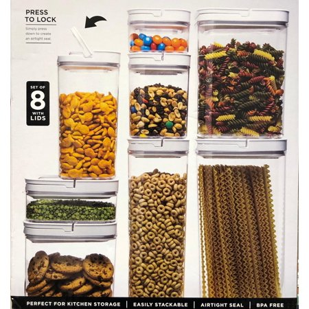 Members Mark Fliplock Storage Containers Set Of 8 With Lid, Bpa Free , Airtight Seal , Stackable](Big Jar)