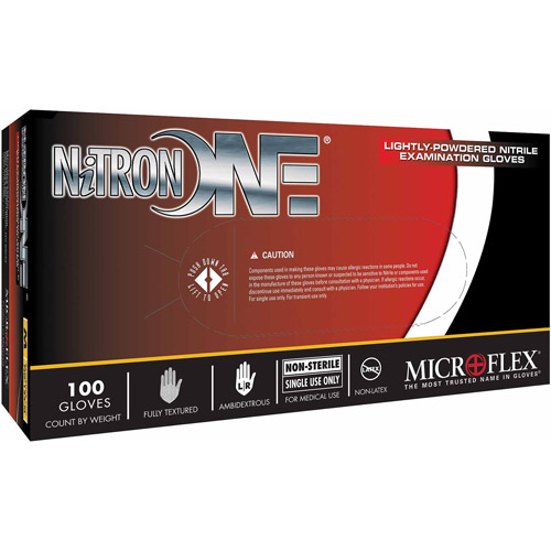 Microflex Corporation Large Nitron 1 Lightly Powdered Nitrile Indust