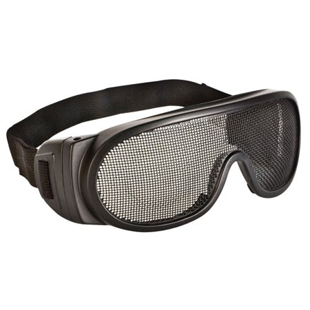 Wire Mesh Safety Glasses With Elastic Strap - Dozen