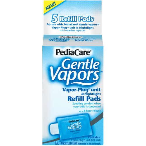 Pedia Care Gentle Vapors Refill Pads Vapor-Plug Unit And Nightlight, 5 ct