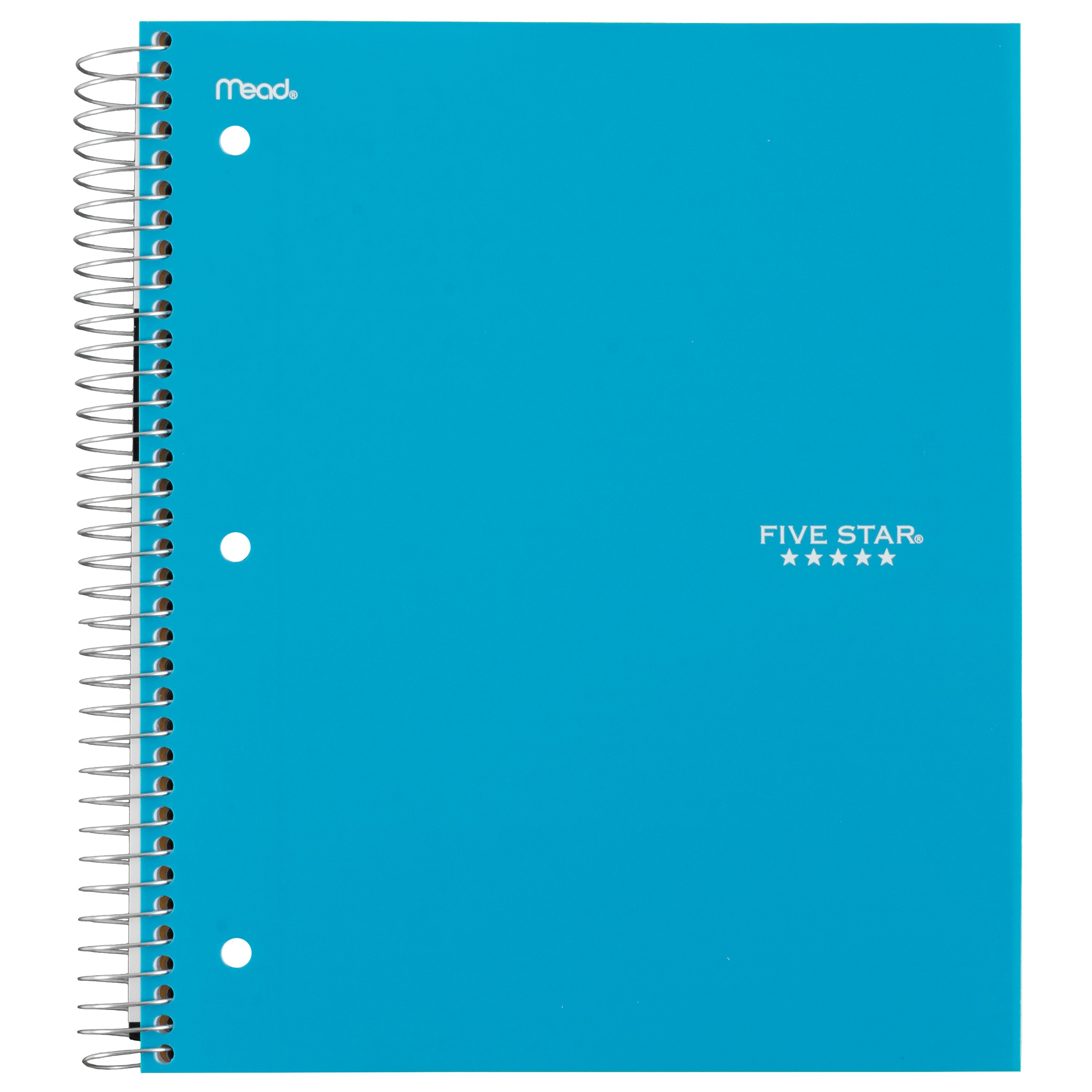 Five Star 5-Subject College Ruled Spiral Notebook (07153