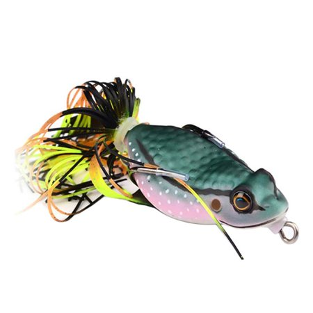 3 Pack Road Bait Frog Lures Bait Fishing Lures 6.35CM/0.46 oz Hard Bait Fishing Tackle (Frog Fishing Lure)