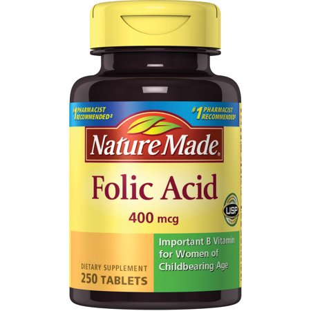 Nature Made® Folic Acid 400 mcg. Tablets (Folic Acid To Get Pregnant With Twins)