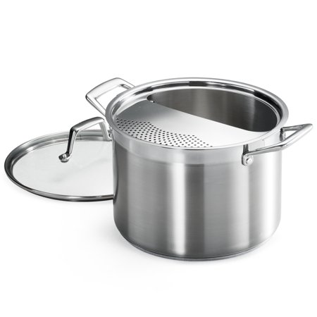 Tramontina Pro-Line 8 Qt. Stainless Steel Lock-N-Drain Pasta Cooker