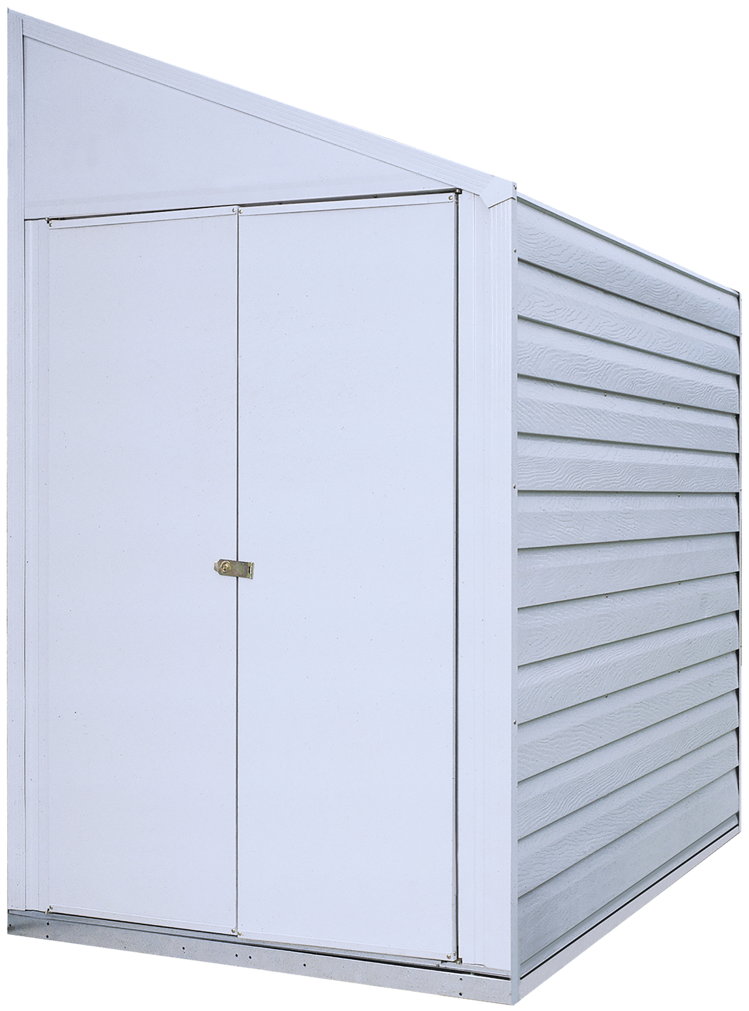 Steel Storage Shed Pent Roof Eggshell