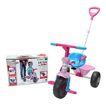 Grow With Me Bike (chromewheels kids' tricycle, with pushing handle and grow-with seat for 1-3 years old)