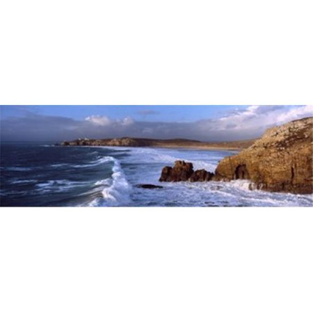 Surf on the beach  Crozon Peninsula  Finistere  Brittany  France Poster Print by  - 36 x 12 - image 1 de 1