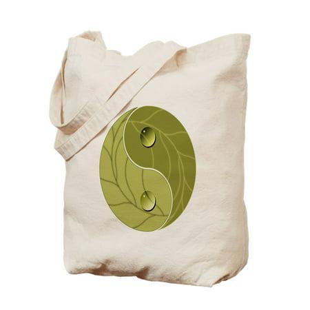 CafePress - Yin Yang Nature - Natural Canvas Tote Bag, Cloth Shopping Bag
