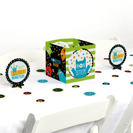 Monster Bash - Little Monster Birthday Party or Baby Shower Centerpiece & Table Decoration Kit (Monster Door Decorations)