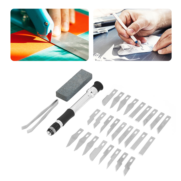 29 pcs Metal Engraving Knifes Set Precision Carving DIY Crafts Cutting Tool Kit