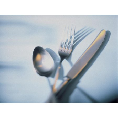 Spoon, Fork and Knife Print Wall Art By Walter (Knife Fork And Spoon Metal Wall Art)