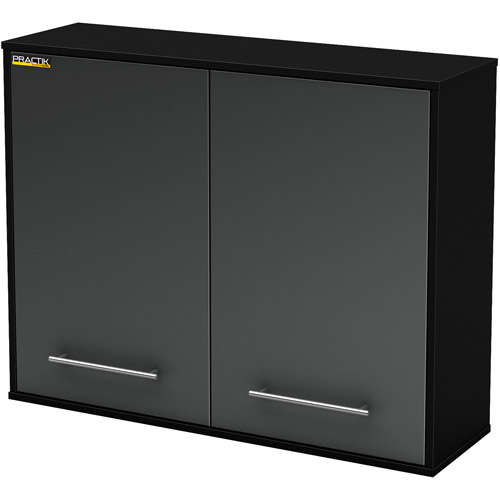 South Shore Karbon Collection Wall Storage Cabinet Pure Black