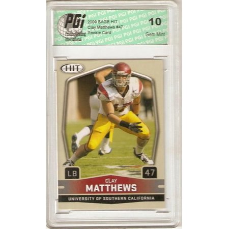 Clay Matthews 2009 Sage Hit #47 Rookie Card PGI (Bottle Clary Sage)