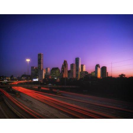 LAMINATED POSTER Buildings Sky Urban Sunset Houston Texas Poster Print 24 x 36