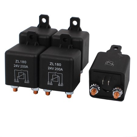 (5 Pcs New DC 24V 200A Large Current Split Charge Power Relay Car Truck Boat)