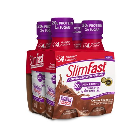 (SlimFast Advanced Nutrition RTD Creamy Chocolate 4pk)