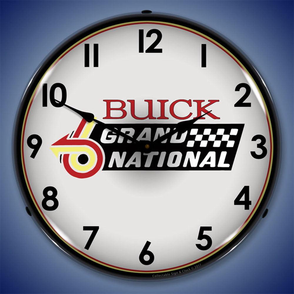 Large Wall Clock American Horsepower Buick Grand National GNX Bar Sign