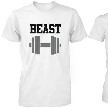 0665fbd5ba 365 Printing inc - WHITE Beauty & Beast Couple T-shirt (Two Shirts) Matching  Couple T-Shirts - Walmart.com