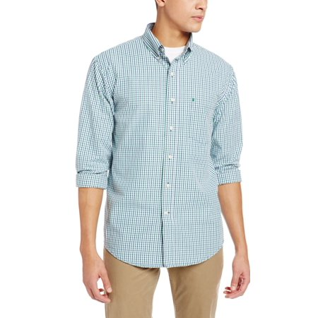 IZOD NEW Blue Verdant Green Mens Size XLT Button Down Checkered Shirt (Green Checkered Skirt)