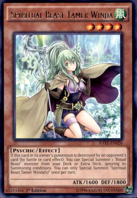 Yugioh TCG Playmat Spiritual Beast Tamer Winda Custom Card Game Mat Pad