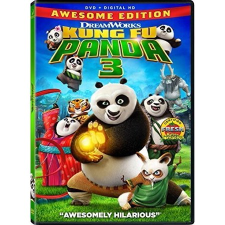 Kung Fu Panda 3 (Awesome Edition) (DVD) (Kung Fu Panda Legends Of Awesomeness 3)