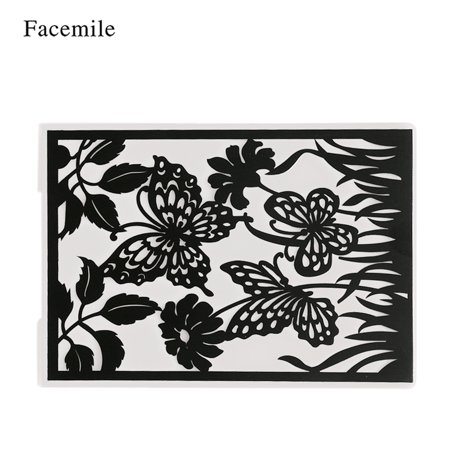 1PCS Plastic Template Textured Impressions Decorative Frame Embossing Folder for Scrapbooking Photo Album Paper Card Craft Making Wedding Decoration Style 2](Halloween Crafts Using Scrapbook Paper)
