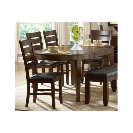 pc wooden dining table set w matching side chairs