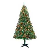 product image holiday time 65ft pre lit madison pine artificial christmas tree with 350 multicolored lights - Christmas Tree Com