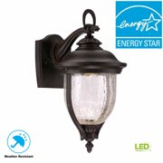 World Imports 7 in. Mystic Bronze LED Outdoor Sconce