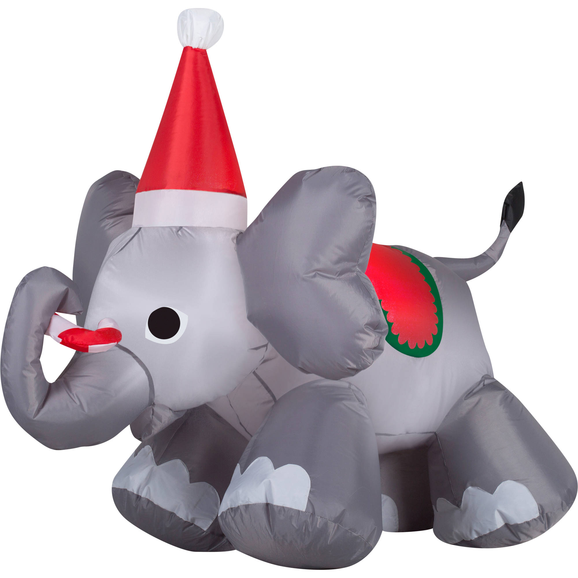 Gemmy Airblown Inflatable Christmas Elephant, 4'