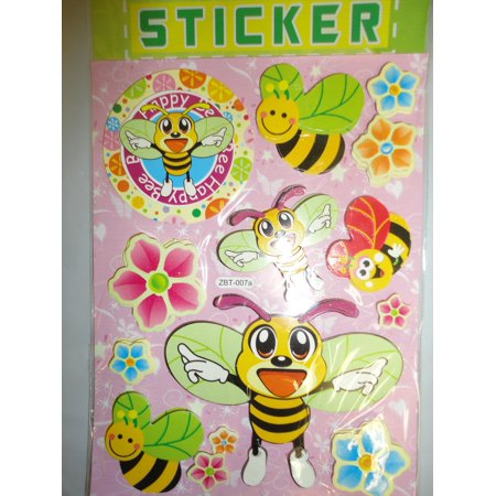 Bees Pop - CHAMRED 3D POP-UP STICKERS. BUBBLE BEE