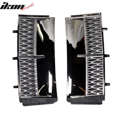 Fits 03-10 Land Range Rover Air Intake Side Vents Chrome & Silver Grille