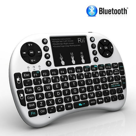 88c42ba6826 Rii i8+ BT Mini Wireless Bluetooth Backlight Touchpad Keyboard with Mouse  for PC/Mac/Android - Walmart.com