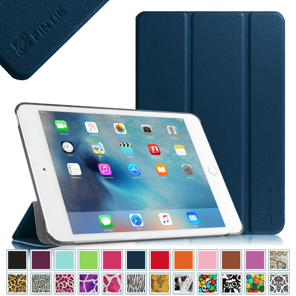 Fintie iPad mini 4 SlimShell Case - Lightweight Stand Cover with Auto Sleep/Wake, Navy