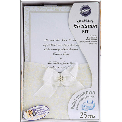 Wilton Print-Your-Own Invitations Kit Happy Day